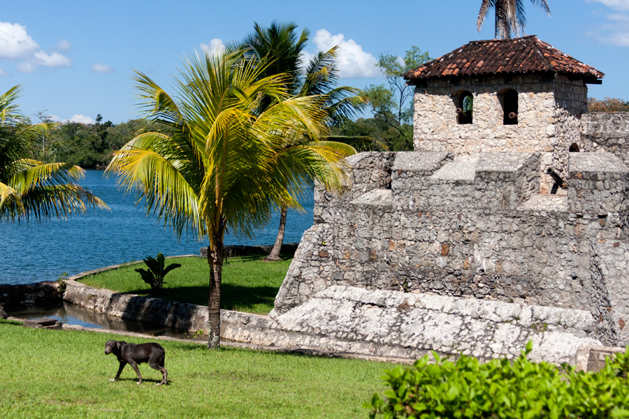 The Castillo de San Felipe de Lara is a Spanish colonial fort in eastern Guatemala built in 1644 to guard Lake Izabal against pirate attacks. The land approach to the three story fort was protected by a moat with drawbridge. (Jain Lemos, Río Dulce National Park, Guatemala; 2014.)
