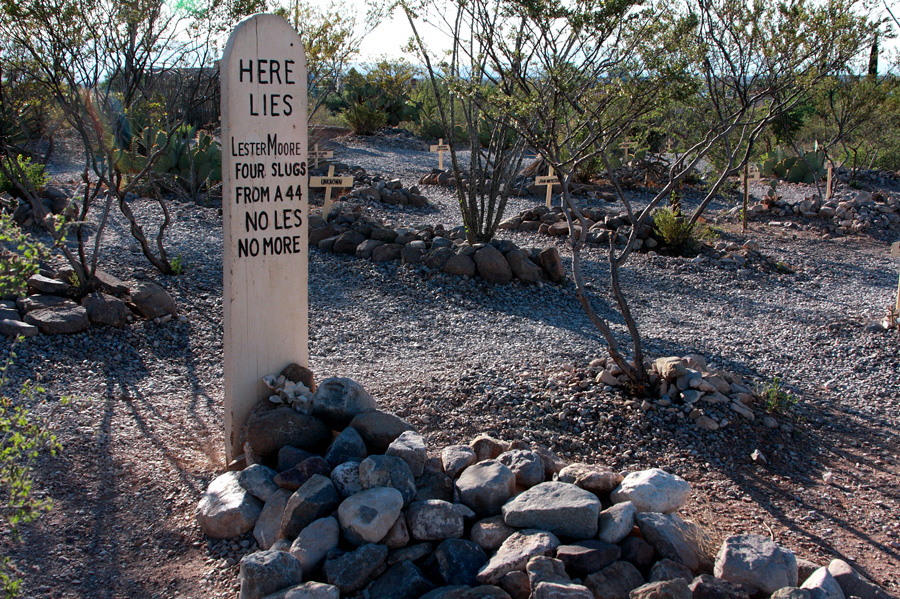 Townsfolk helped preserve old Boothill cemetery where the graves have been spruced up but mysteries are still buried deep in Tombstone, Ariz. Photo by Jain Lemos.