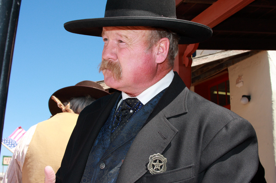 """""""Hell, Wyatt Earp wasn't the only Marshall this town's ever had,"""" explains this lawman in Tombstone, Ariz. Photo by Jain Lemos."""